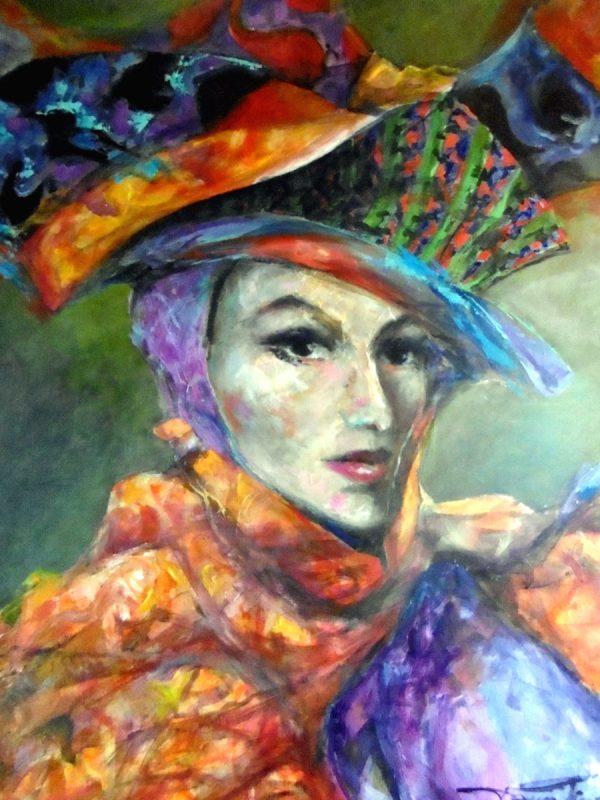 Femme chapeau venise rc