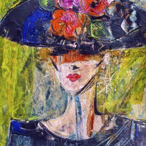 Femme au chapeau noir
